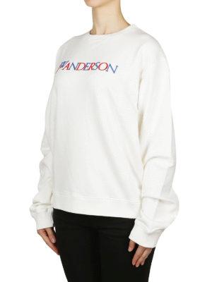 J.W. ANDERSON: Felpe e maglie online - Felpa bianca con ricamo multicolore