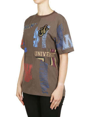 J.W. ANDERSON: t-shirt online - T-shirt patchwork in cotone stampato