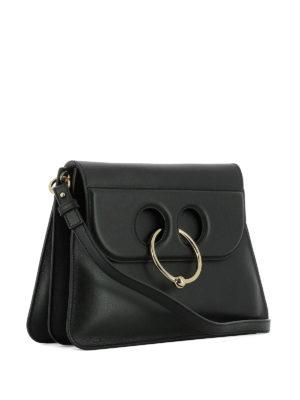 J.W. Anderson: shoulder bags online - Pierce black leather bag