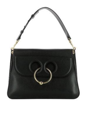J.W. Anderson: shoulder bags - Pierce black leather bag