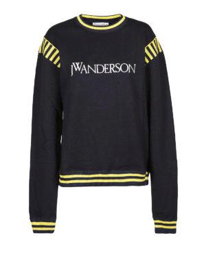 J.W. ANDERSON: Felpe e maglie - Felpa girocollo in cotone blu e gialla