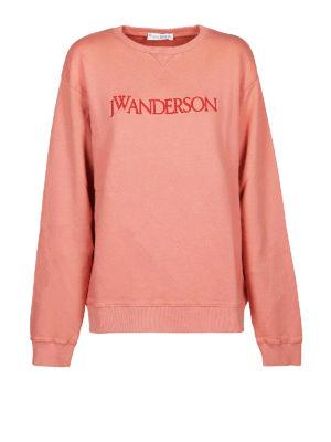 J.W. ANDERSON: Felpe e maglie - Felpa girocollo in cotone color anguria