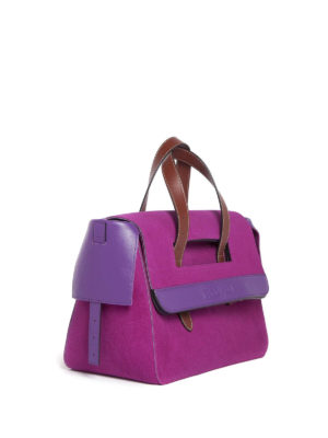 J.W. Anderson: totes bags online - Tool suede and leather bag