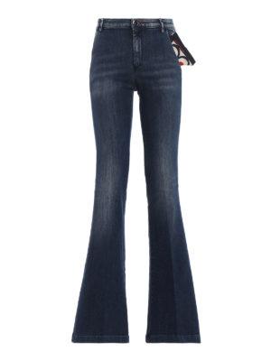 JACOB COHEN: jeans bootcut - Jeans svasati in denim con lavaggio scuro