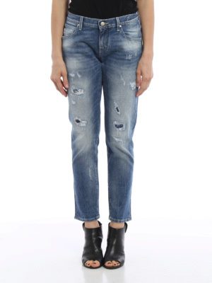 Jacob Cohen: Boyfriend online - Patched rips jeans