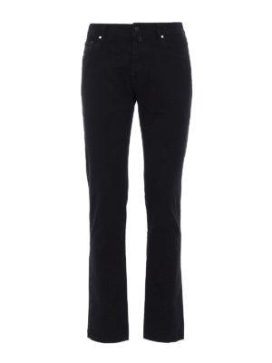 Jacob Cohen: casual trousers - Black jacquard cotton trousers