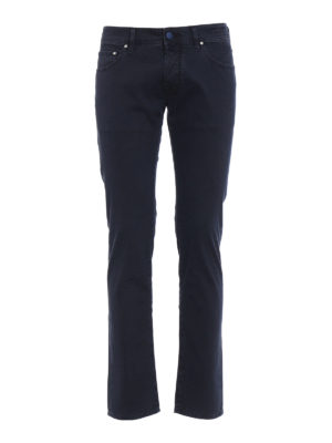 Jacob Cohen: casual trousers - Blue cavalry trousers