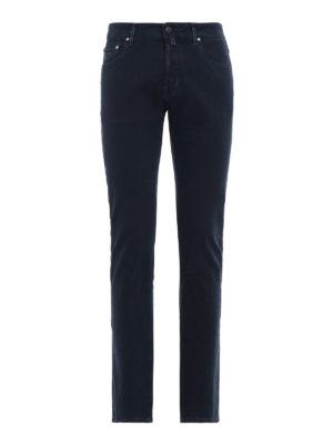 JACOB COHEN: pantaloni casual - Cinque tasche style 688 in cotone blu