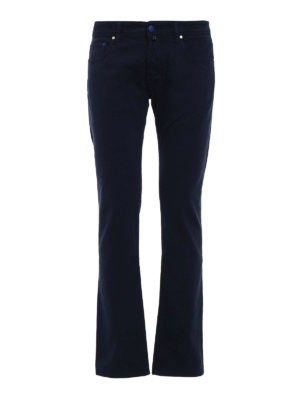Jacob Cohen: casual trousers - Blue cotton twill trousers