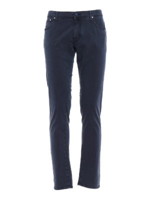 Jacob Cohen: casual trousers - Blue navy tailored trousers