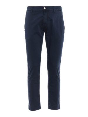 Jacob Cohen: casual trousers - Blue sateen cotton trousers