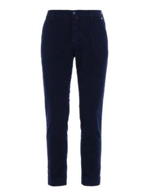 Jacob Cohen: casual trousers - Blue soft velvet trousers