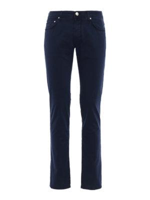 Jacob Cohen: casual trousers - Blue stretch cotton trousers
