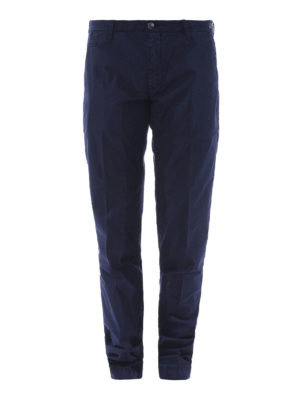 JACOB COHEN: pantaloni casual - Pantaloni in cotone stretch blu