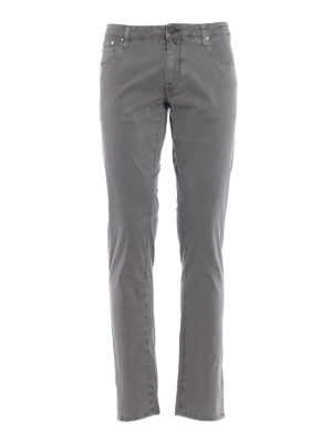 Jacob Cohen: casual trousers - Cotton blend tailored grey trousers