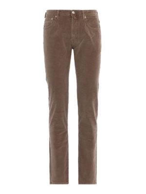 JACOB COHEN: pantaloni casual - Pantaloni Style 688 in velluto millerighe