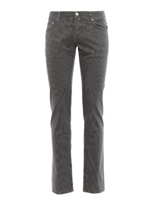 Jacob Cohen: casual trousers - Cotton micro patterned trousers