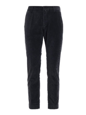 Jacob Cohen: casual trousers - Dark grey corduroy trousers
