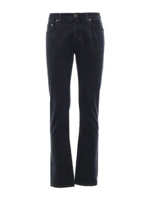 Jacob Cohen: casual trousers - Faded black cotton trousers