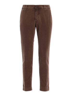 Jacob Cohen: casual trousers - Light brown soft velvet trousers