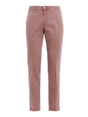 JACOB COHEN: casual trousers - Lion pink chino trousers