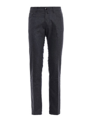 Jacob Cohen: casual trousers - Melange wool cloth trousers