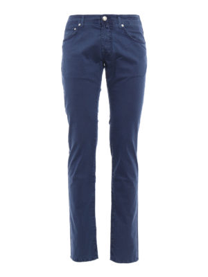 Jacob Cohen: casual trousers - Micro pattern cotton trousers