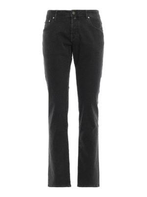 JACOB COHEN: pantaloni casual - Pantaloni micro fantasia verde bosco