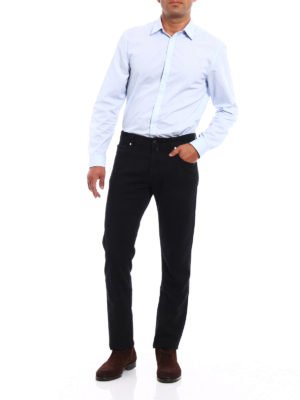 Jacob Cohen: casual trousers online - Black jacquard cotton trousers