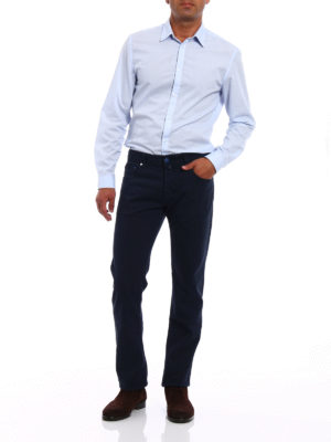 Jacob Cohen: casual trousers online - Blue cotton twill trousers