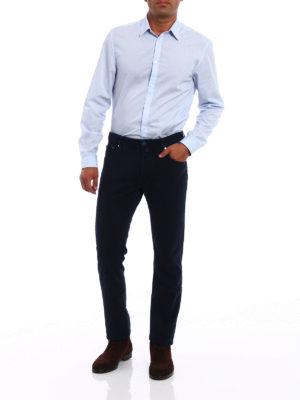 Jacob Cohen: casual trousers online - Blue jacquard cotton trousers