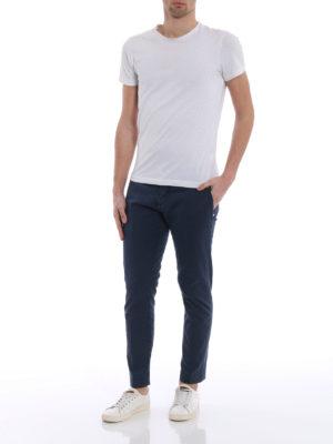 Jacob Cohen: casual trousers online - Blue sateen cotton trousers