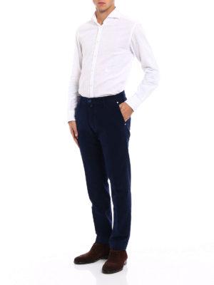 Jacob Cohen: casual trousers online - Blue soft velvet trousers