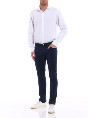 Jacob Cohen: casual trousers online - Blue stretch cotton trousers