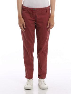 Jacob Cohen: casual trousers online - Brigitte cotton jacquard trousers