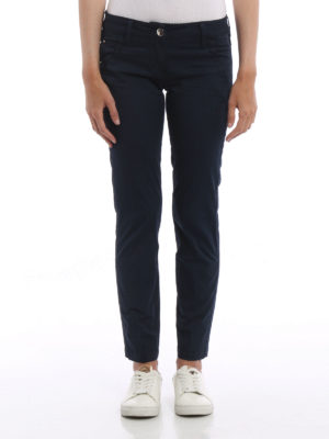Jacob Cohen: casual trousers online - Chloe low rise cotton trousers