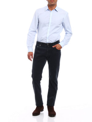 Jacob Cohen: casual trousers online - Faded black cotton trousers