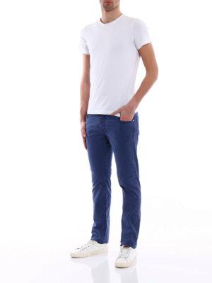 Jacob Cohen: casual trousers online - Handkerchief detailed trousers