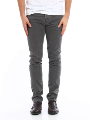 Jacob Cohen: casual trousers online - Herringbone cotton trousers