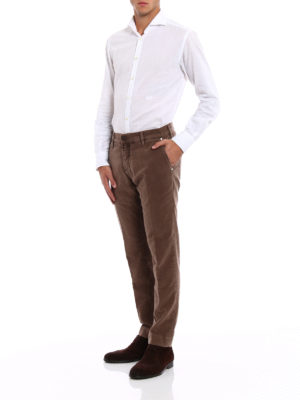 Jacob Cohen: casual trousers online - Light brown soft velvet trousers