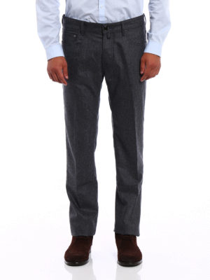 Jacob Cohen: casual trousers online - Melange wool cloth trousers