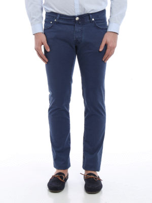 Jacob Cohen: casual trousers online - Micro pattern cotton trousers