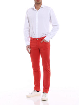 Jacob Cohen: casual trousers online - Red stretch cotton trousers