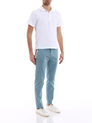 Jacob Cohen: casual trousers online - Stretch cotton jacquard trousers
