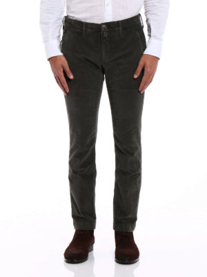 Jacob Cohen: casual trousers online - Style 626 olive corduroy trousers