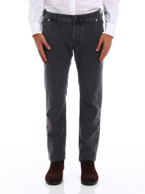 Jacob Cohen: casual trousers online - Velvety cotton trousers