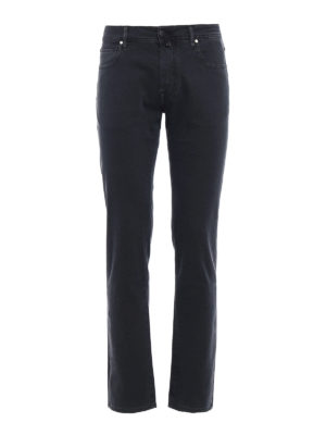 Jacob Cohen: casual trousers - Smoky grey jacquard cotton trousers
