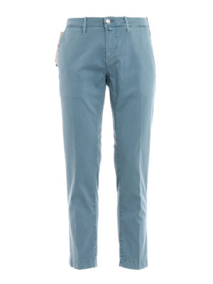 Jacob Cohen: casual trousers - Stretch cotton jacquard trousers