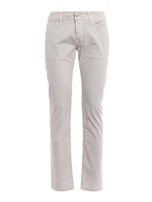 Jacob Cohen: casual trousers - Stretch cotton tailored trousers