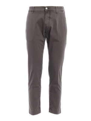 Jacob Cohen: casual trousers - Stretch sateen cotton trousers